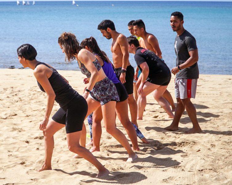 entrenamiento- playa